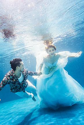 水下婚纱照--白纱